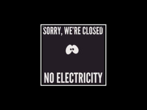 The effect of a power outage on a business
