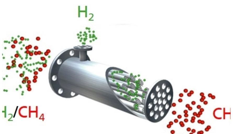 Green hydrogen and natural gas via the same gas network